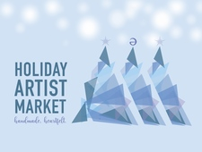 Front And Back Holiday Artist Market Postcard